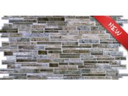 3D obkladový PVC panel imitace kamenné zdi hnědošedá 3D obkladové panely