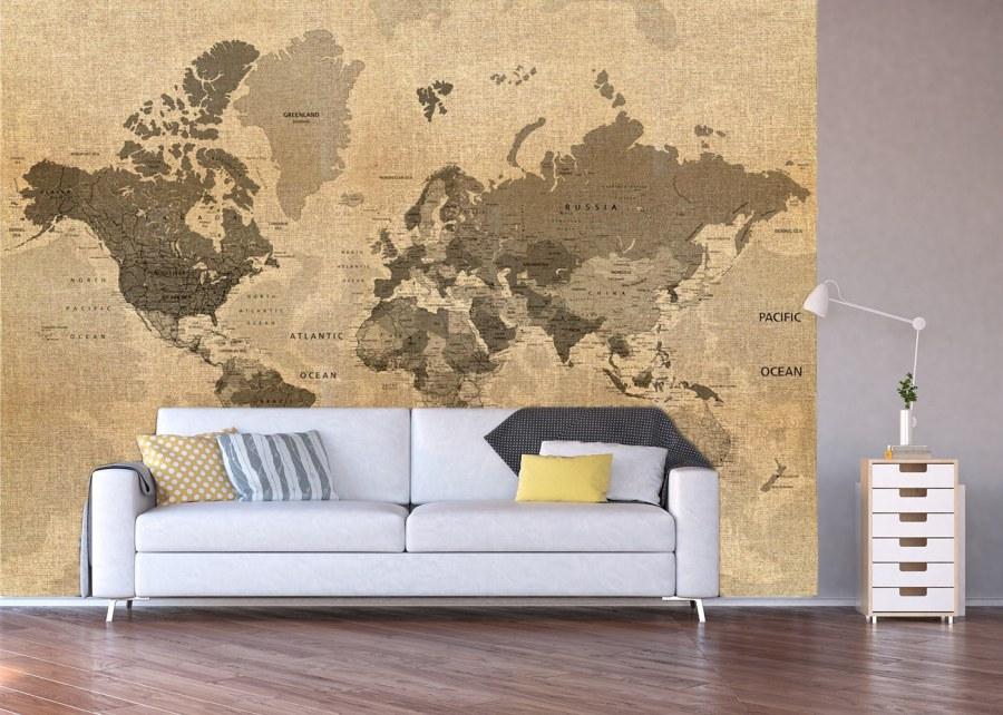 Fototapeta Historická mapa světa FTNXXL-1215 - Fototapety