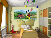 Fototapeta Mickey Mouse FTDNH-5375 | 202x90 cm Fototapety