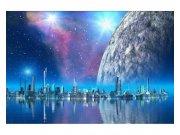 Fototapeta na zeď Futuristická město | MS-5-0186 | 375x250 cm Fototapety