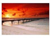 Fototapeta na zeď Molo při západu slunce | MS-5-0191 | 375x250 cm Fototapety
