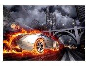 Fototapeta na zeď Auto v plamenech | MS-5-0314 | 375x250 cm Fototapety