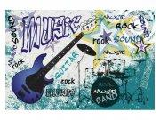 Fototapeta na zeď Modrá kytara | MS-5-0323 | 375x250 cm Fototapety