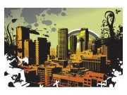 Fototapeta na zeď Nakreslené město | MS-5-0325 | 375x250 cm Fototapety