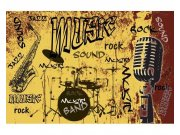 Fototapeta na zeď Žlutá hudba | MS-5-0330 | 375x250 cm Fototapety