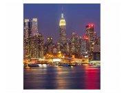 Fototapeta na zeď Manhattan v noci | MS-3-0003 | 225x250 cm Fototapety
