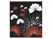 Fototapeta na zeď Květiny na černém pozadí | MS-3-0156 | 225x250 cm Fototapety