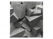 Fototapeta na zeď 3D betonová kvádry | MS-3-0176 | 225x250 cm Fototapety