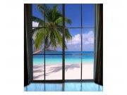 Fototapeta na zeď Pláž za oknem | MS-3-0203 | 225x250 cm Fototapety