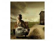 Fototapeta na zeď Dívka v křesle | MS-3-0258 | 225x250 cm Fototapety