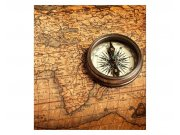 Fototapeta na zeď Kompas a mapa | MS-3-0264 | 225x250 cm Fototapety