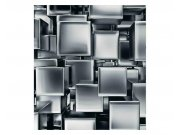 Fototapeta na zeď 3D metalová kostky | MS-3-0285 | 225x250 cm Fototapety