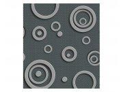Fototapeta na zeď 3D kovová kruhy | MS-3-0302 | 225x250 cm Fototapety