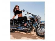 Fototapeta na zeď Dívka na motorce | MS-3-0312 | 225x250 cm Fototapety