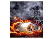 Fototapeta na zeď Auto v plamenech | MS-3-0314 | 225x250 cm Fototapety