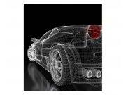 Fototapeta na zeď Tmavý model auta | MS-3-0315 | 225x250 cm Fototapety