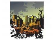 Fototapeta na zeď Nakreslené město | MS-3-0325 | 225x250 cm Fototapety