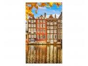 Fototapeta na zeď Domy v Amsterdamu | MS-2-0024 | 150x250 cm Fototapety