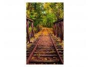 Fototapeta na zeď Železnice v lese | MS-2-0055 | 150x250 cm Fototapety