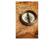 Fototapeta na zeď Kompas a mapa | MS-2-0264 | 150x250 cm Fototapety