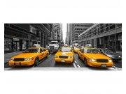 Panoramatická Fototapeta na zeď Taxi ve městě | MP-2-0008 | 375x150 cm Fototapety