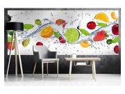 Panoramatická Fototapeta na zeď Ovoce ve vodě | MP-2-0239 | 375x150 cm Fototapety