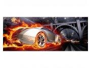 Panoramatická Fototapeta na zeď Auto v plamenech | MP-2-0314 | 375x150 cm Fototapety