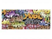 Panoramatická Fototapeta na zeď Graffiti | MP-2-0322 | 375x150 cm Fototapety