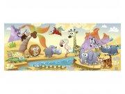 Panoramatická Fototapeta na zeď Zvířátka ze savany | MP-2-0333 | 375x150 cm Fototapety