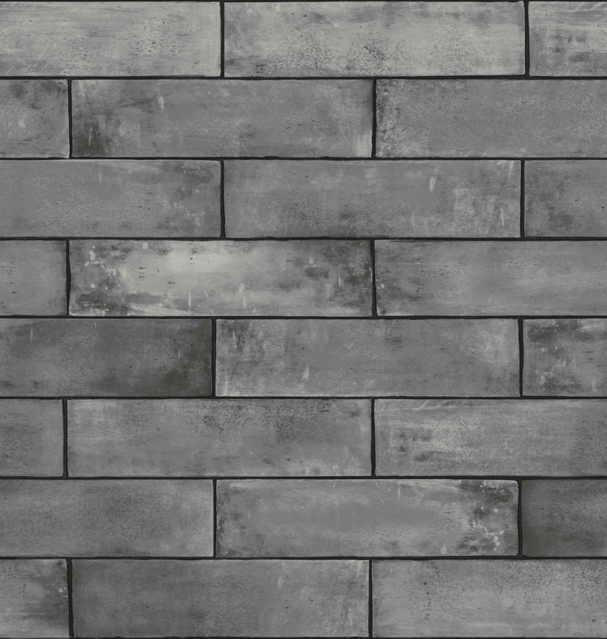 Tapeta Ceramics šedá cihla 270-0168 | šíře 67,5 cm - Tapety skladem