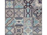 Tapeta Ceramics retro kachličky šedé 270-0169 | šíře 67,5 cm Tapety skladem