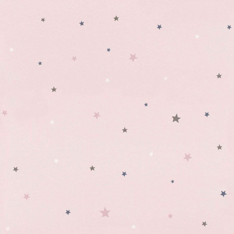 Růžová tapeta barevné hvězdičky Bambino 245233 - Rasch