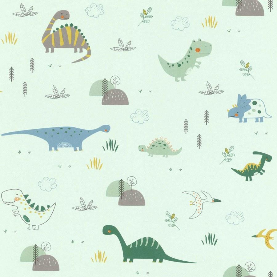 Tapeta malovaná zvířátka z pravěku Bambino 249330 - Rasch