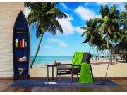 Fototapeta Palmy na pláži FTNXXL-1234 | 360x270 cm Fototapety