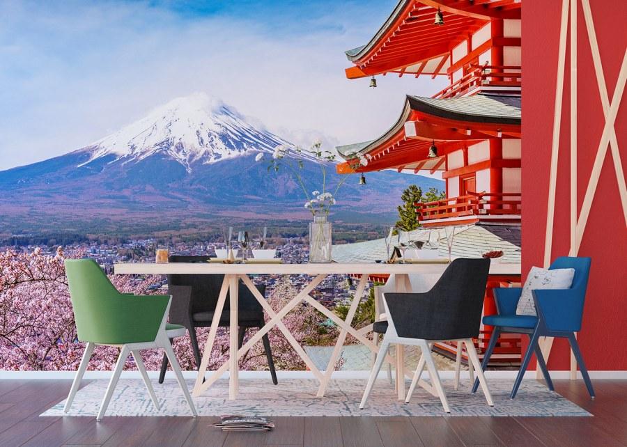 Fototapeta Japonská hora FTNXXL-1238   360x270 cm - Fototapety