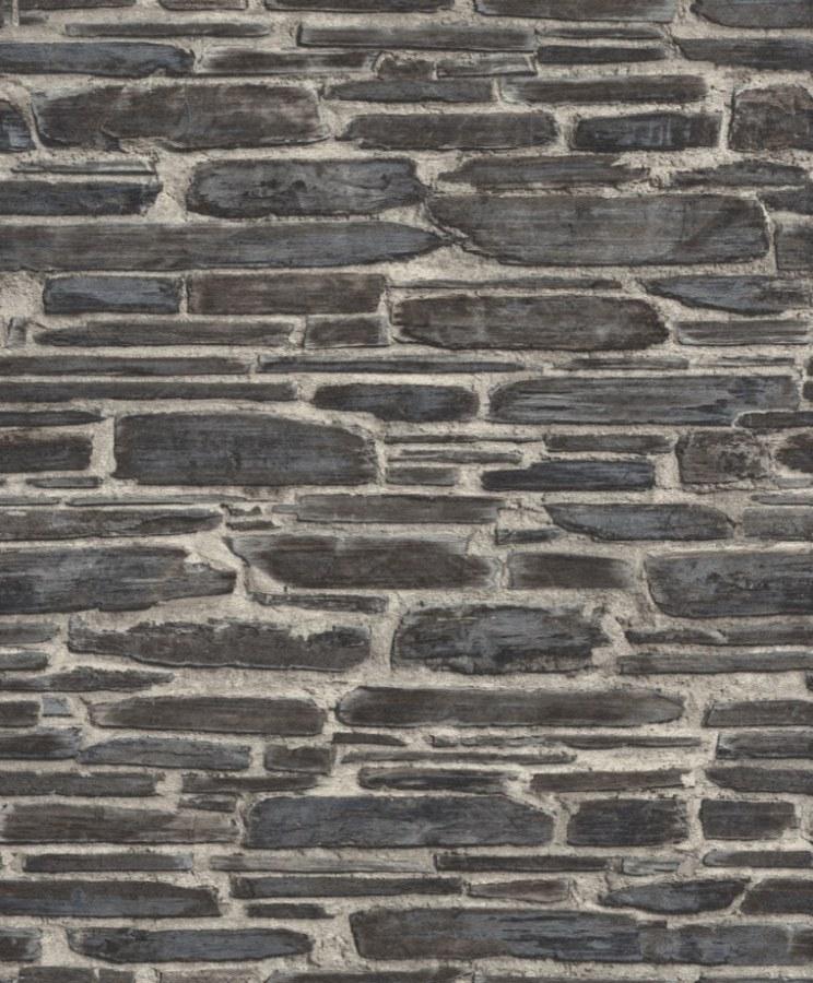 Moderní omyvatelná tapeta Kamenná zeď hnědá Tapetenwechsel 863437 | lepidlo zdarma - Rasch