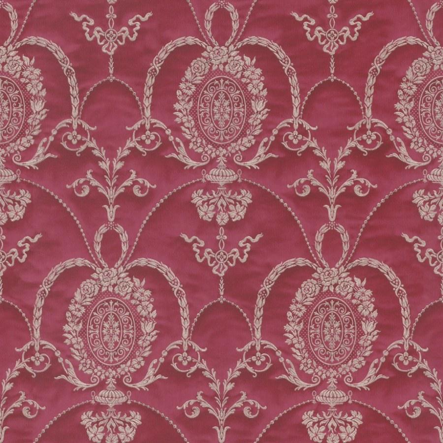 Barokní tapeta červené ornamenty Trianon 532135 | lepidlo zdarma - Rasch