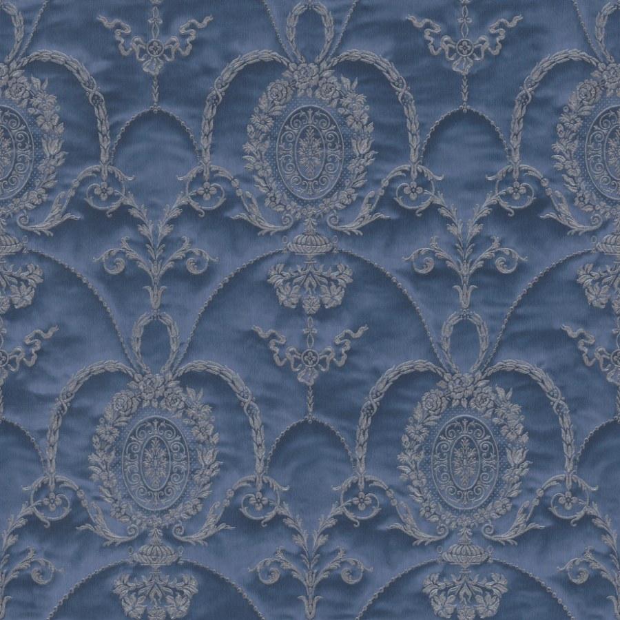 Barokní tapeta Modré ornamenty Trianon 532159 | lepidlo zdarma - Rasch