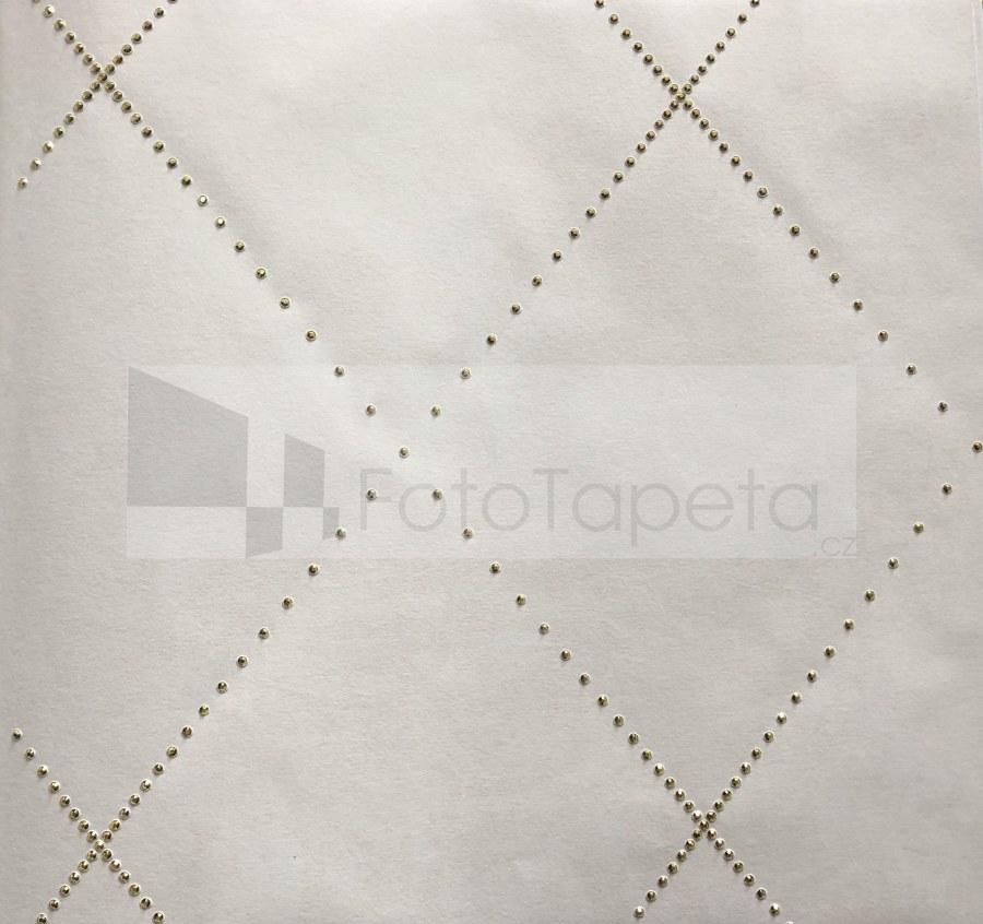 Tapeta Nexus krémová se zlatými krystaly 6613 - Rasch