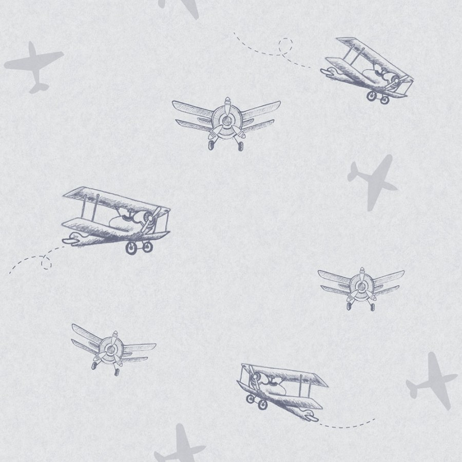 Tapeta letadla Sweet Dreams ND21142 | 0,53 x 10 m | Lepidlo zdarma - Tapety dětské