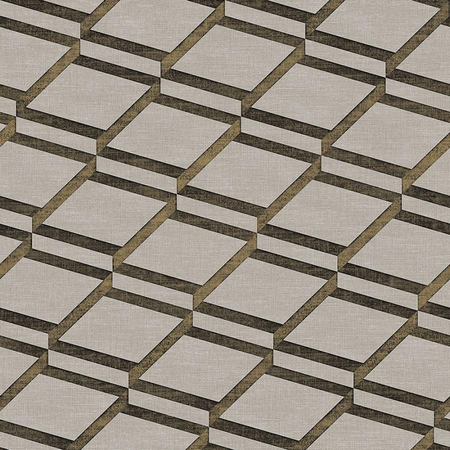 3D tapeta Blooming s 3D vzorem BL22731 | Squares | 0,53 x 10 m | Lepidlo zdarma - Vavex