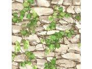 Omyvatelná tapeta kámen s břečťanem 5695-01 | Lepidlo zdarma Vavex