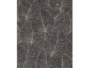 Tapeta s vinylovým povrchem Čenozlaté listy Denzo II 456608 | Lepidlo zdarma Rasch