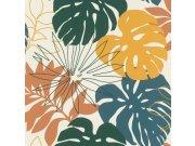 Tapeta s vinylovým povrchem barevné listy Denzo II 529302 | Lepidlo zdarma Rasch