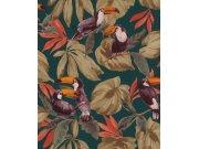 Přírodní omyvatelná tapeta ptáci na listech Denzo II 807509 | Lepidlo zdarma Rasch