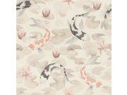 Omyvatelná tapeta v japonském vzoru Kimono 409420 | Lepidlo zdarma Rasch