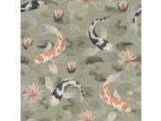Omyvatelná tapeta v japonském vzoru Kimono 409437 | Lepidlo zdarma Rasch