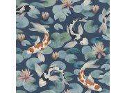 Omyvatelná tapeta v japonském vzoru Kimono 409444 | Lepidlo zdarma Rasch