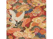 Omyvatelná tapeta v japonském vzoru Kimono 409345 | Lepidlo zdarma Rasch