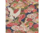 Omyvatelná tapeta v japonském vzoru Kimono 409352 | Lepidlo zdarma Rasch